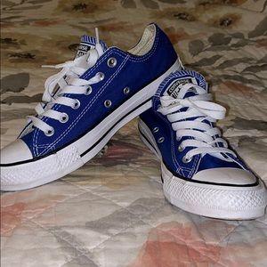 Royal Blue Low Top Converse